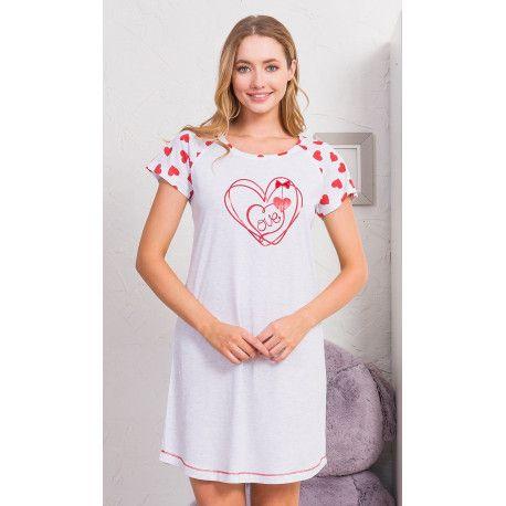 Dámská noční košile s krátkým rukávem Love. VIENETTA SECRET