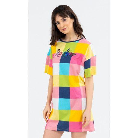 Dámská noční košile s krátkým rukávem Rainbow. VIENETTA SECRET