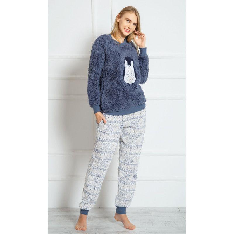 Dámské dlouhé softové pyžamo Tučňák. VIENETTA SECRET