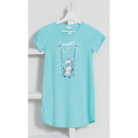Dětská noční košile s krátkým rukávem Zebra. VIENETTA SECRET
