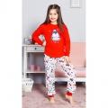 Dětské dlouhé bavlněné pyžamo Tučňák velký