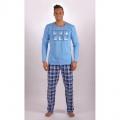 Pánské dlouhé bavlněné pyžamo Kamasutra VIENETTA SECRET