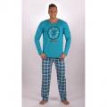 Pánské dlouhé bavlněné pyžamo Kamasutra clock