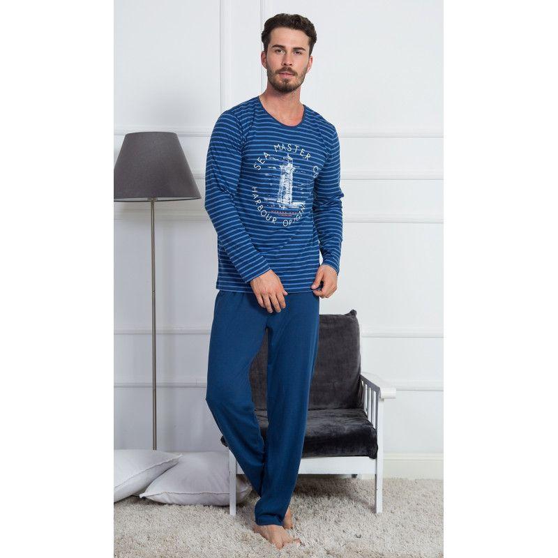 Pánské pyžamo dlouhé Maják VIENETTA SECRET